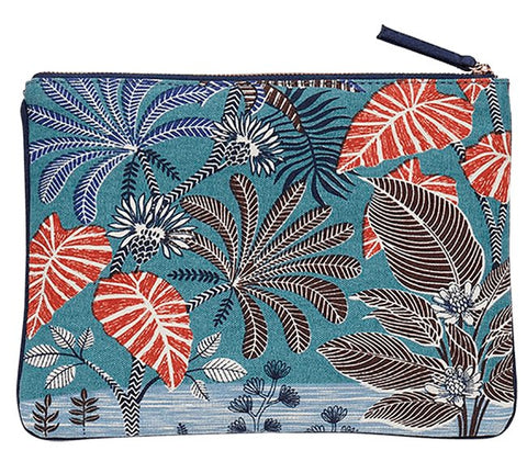 Printed Cotton Canvas Pochette Herbarium