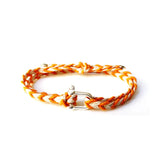 Braided Bracelet Small Manille Silver 925 - Orange