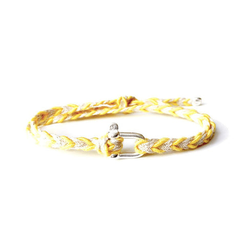 Braided Bracelet Small Manille Silver 925 - Yellow