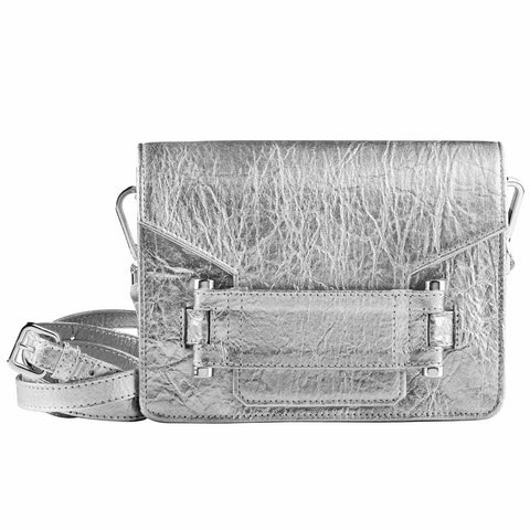Silver Pinatex Jolie Bag