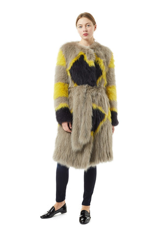 Fox Fur Belted Coat - Meteo by Yves Salomon