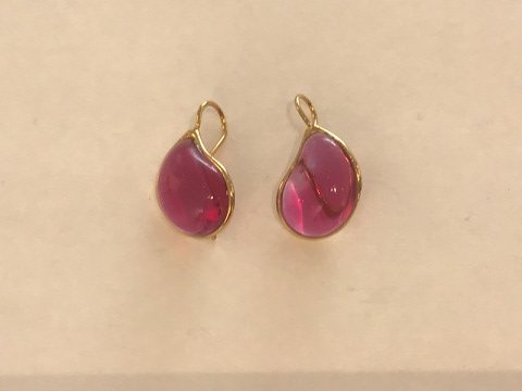 Teardrop Earrings - Fuchsia Pink