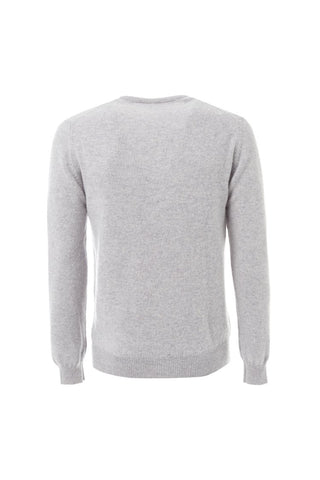 Grey wool round neck sweater