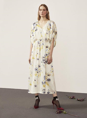 Helia Silk Print Dress