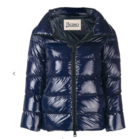 Padded Zip Jacket - Navy