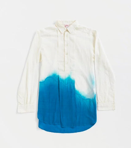 Pangong Tso Himalaya Ladakh Dipped Dye Shirt Dress
