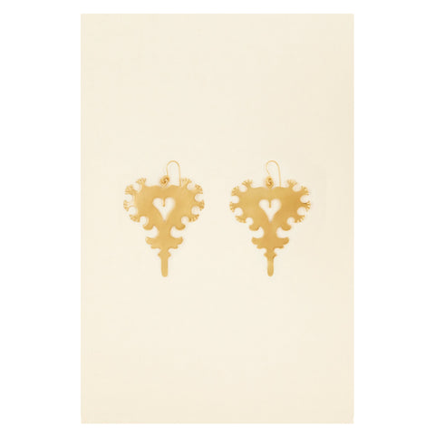 Arlésienne brass earrings