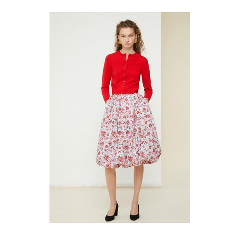 Printed Midi Bubble Skirt