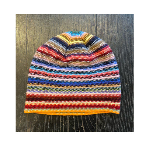 Lambswool Beanie Hat - Rainbow