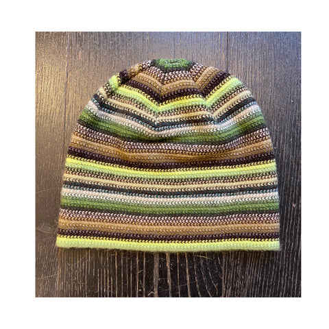 Lambswool Beanie Hat - Green