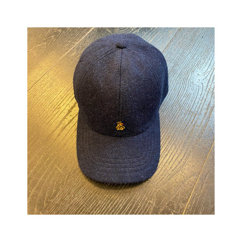 Navy Wool Baseball Cap