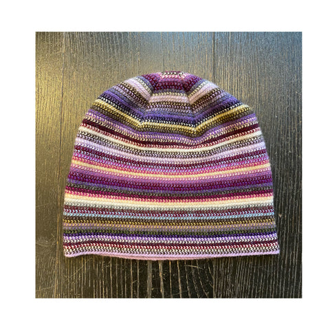 Lambswool Beanie Hat - Purple