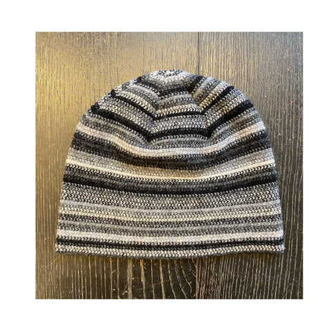 Lambswool Beanie Hat - Black