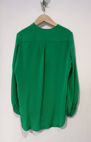 Crepe de Chine Charliz Shirt - Green