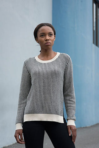 Kim Cashmere Ladder Stitch Sweater