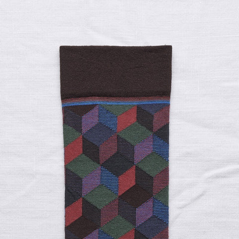 Dark Brown Argyle - Knee High