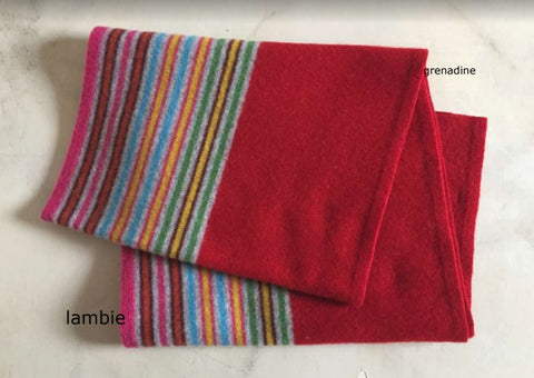Lambie Lambswool Scarf - Red