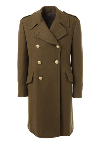 Double Breasted Wool Coat - Khaki