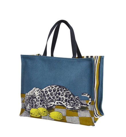 Lemon Yellow Leopard City Bag