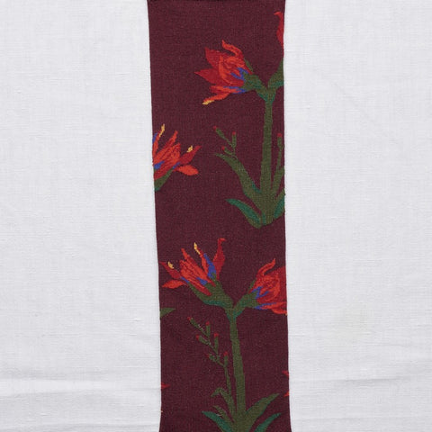 Maroon Amaryllis Long Sock