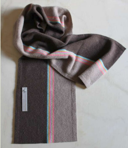 Maxwell Lambswool Scarf - Brown
