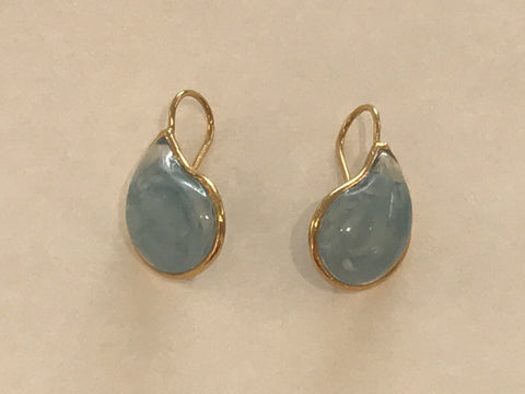 Teardrop Earrings - Milky Aqua