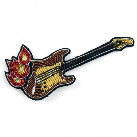 Flame Guitar Brooch