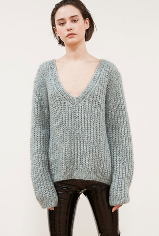 Odeon Knit Sweater - Ice Blue