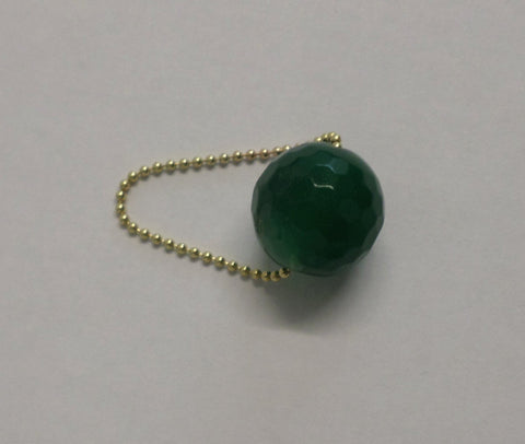 Gembuds Pine Green Agate Ring