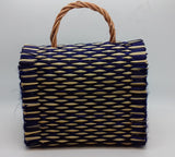 Traditional Straw Bag - Purple Small