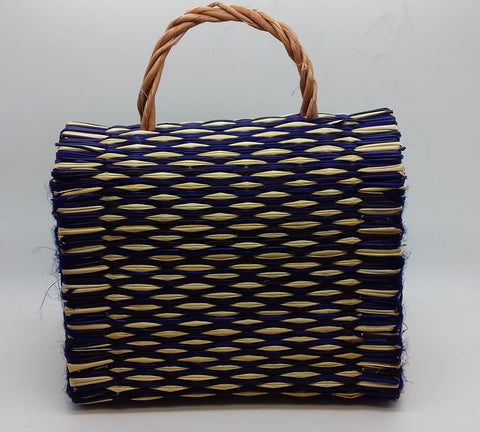 28a426e2fb45 Traditional Straw Bag - Purple Small Traditional Straw Bag - Purple Small