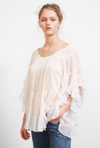 Radience Ruffle Cotton Top