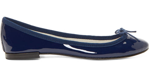 Cendrillon Patent Leather Ballerina - Navy