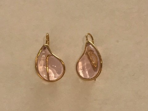 Teardrop Earrings - Rose Pink