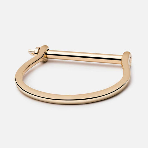 SCREW CUFF BRACELET, Gold Plated