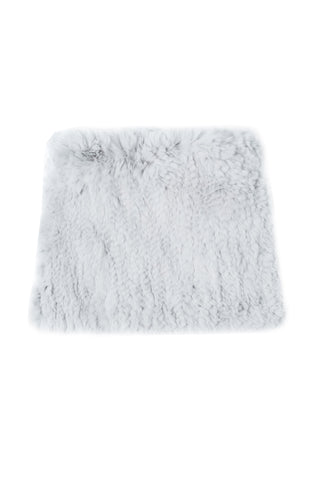 Rex Rabbit Fur Snood - Silver