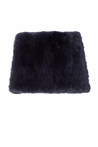 Rex Rabbit Fur Snood - Midnight Blue