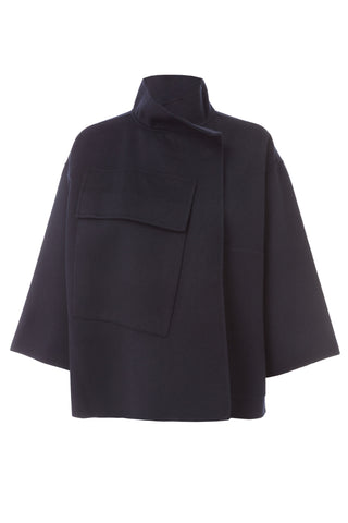 Carmel Wool Cashmere Cropped Jacket
