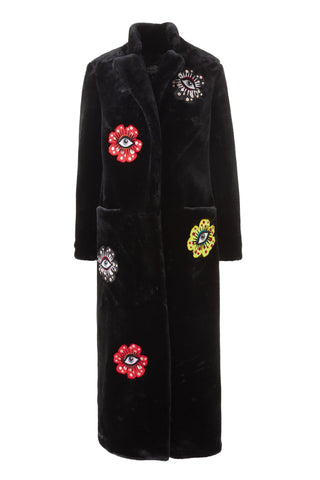 Flower Eyes Fur Coat