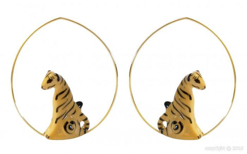 Tiger Creoles Earring