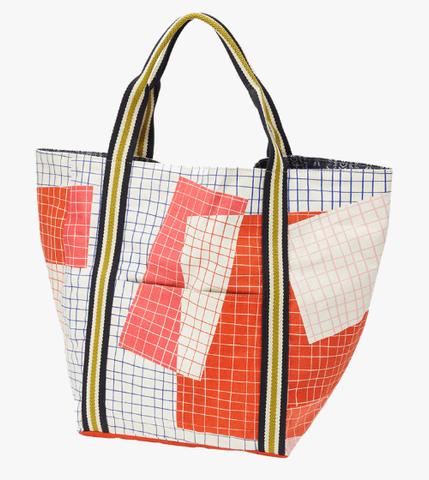 Printed Cotton Canvas Tote Bag Nima