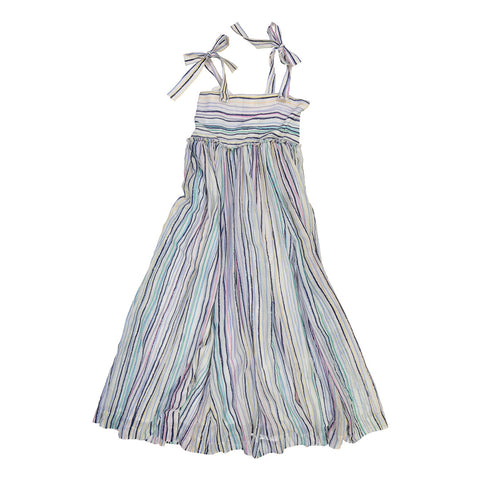Rainbow Stripe Silk Dress