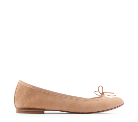 Cendrillon Suede Leather Ballerina - Nude