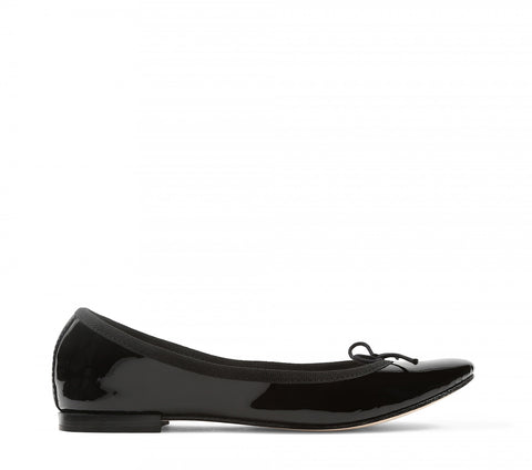 Cendrillon Patent Leather Ballerina - Black