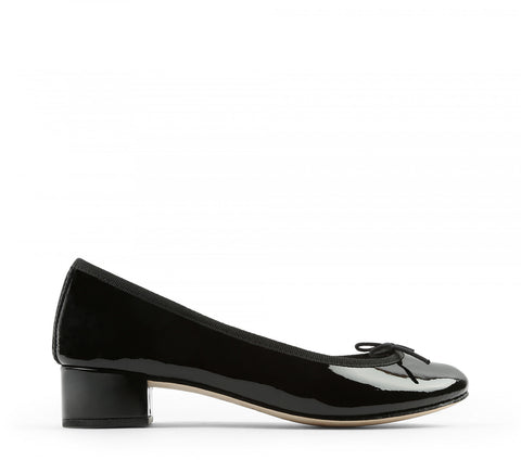 Camille Patent Leather Ballerina - Black