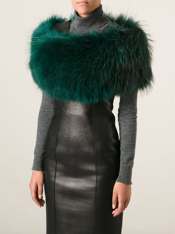 Rex Rabbit Fur Snood - Emerald
