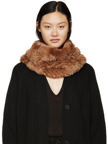 Rex Rabbit Fur Snood - Honey