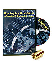 How to Play Slide Guitar DVD + Solid Brass Slide