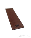 Chocolate Brown Leather Bookmark / Signet Personnalisé Chocolat