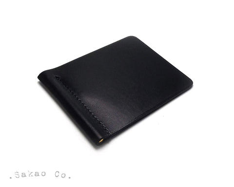 Black Leather Money Clip / Pince à Billets Cuir Noir